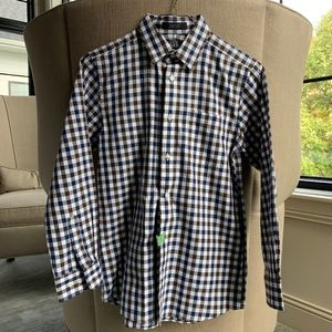 Nordstrom Kids Dress shirt Size 14 Brown Blue